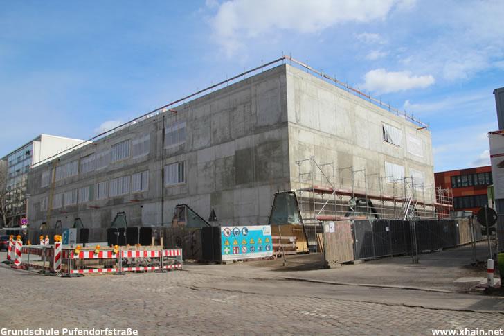 Grundschule in der Pufendorfstraße (März 2021)