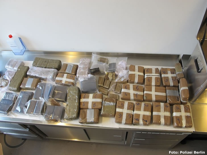 54 Kilogramm Cannabis beschlagnahmt