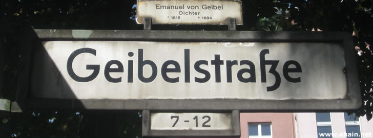 Geibelstraße