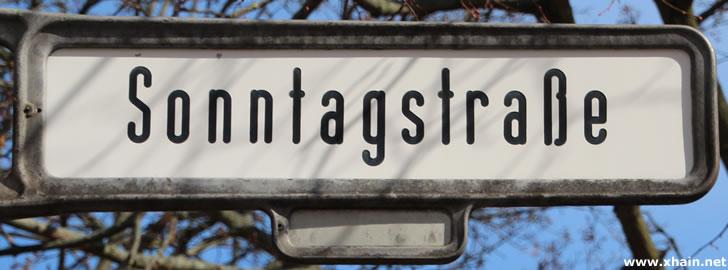 Sonntagstraße