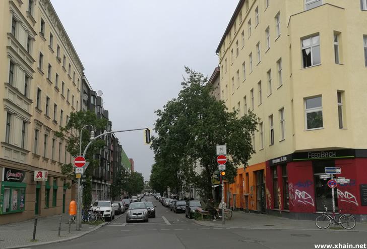 Die Mariannenstraße ist jetzt Einbahnstraße