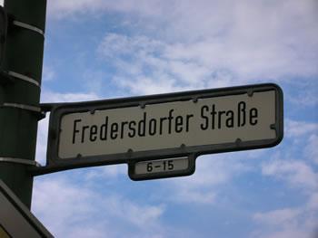 Fredersdorfer Straße
