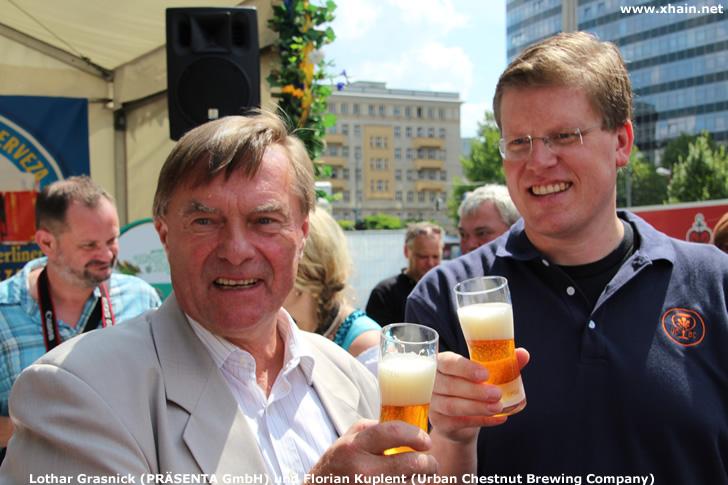 Lothar Grasnick (PRÄSENTA GmbH) und Florian Kuplent (Urban Chestnut Brewing Company)