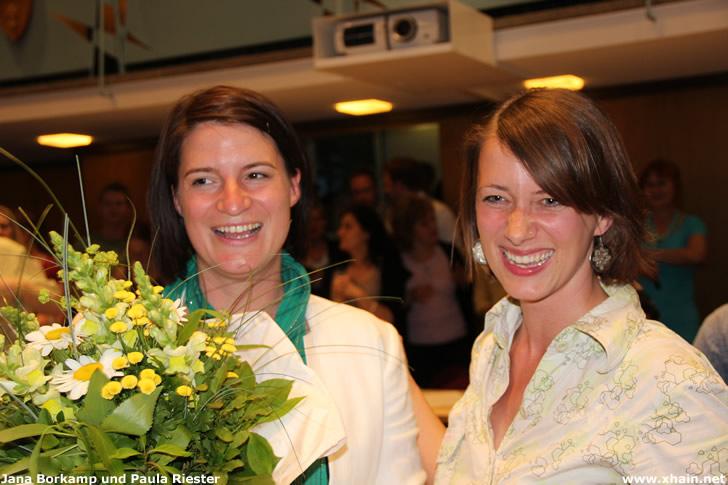 Jana Borkamp und Paula Riester
