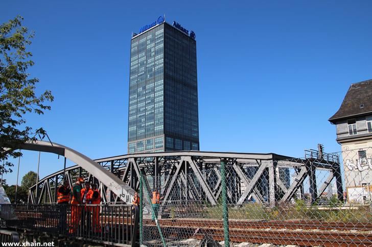Kabelbrand an der Elsenbrücke