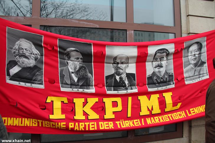Stalinisten auf der Liebknecht-Luxemburg-Demonstration 2013