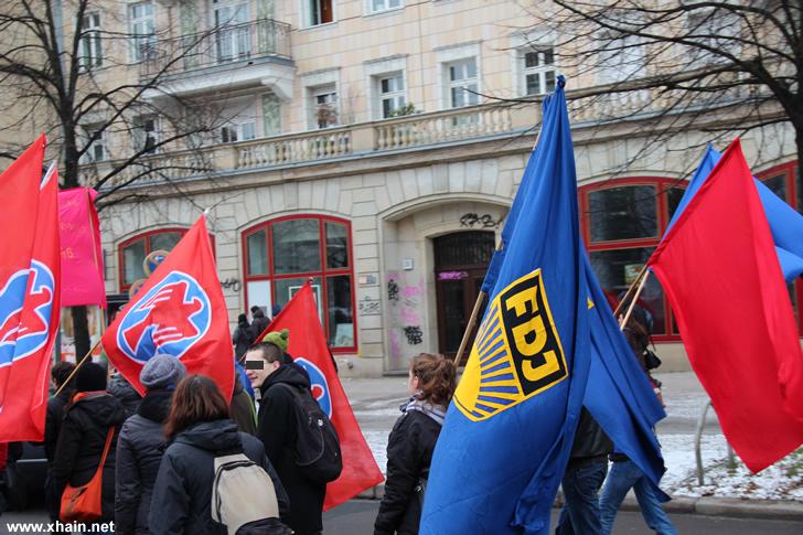 Falken und FDJ auf der Liebknecht-Luxemburg-Demonstration 2013