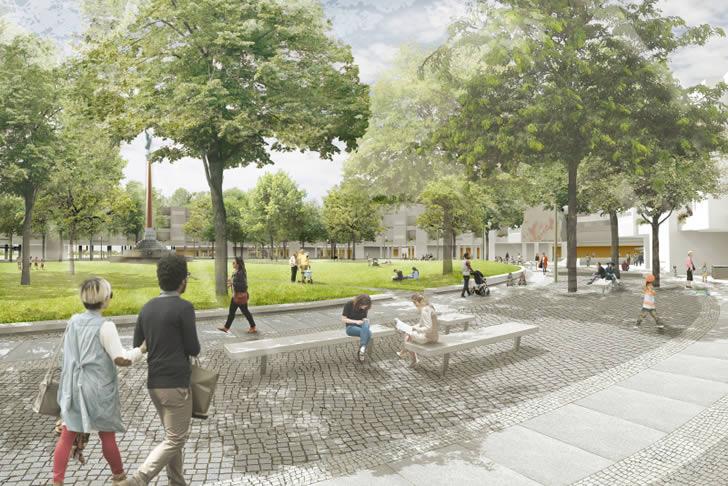 Baubeginn für die Umgestaltung des Mehringplatzes