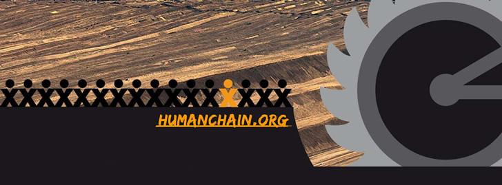 Menschenkette gegen Braunkohletagebaue