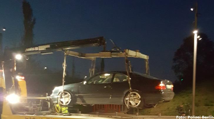 Getunter Mercedes sichergestellt