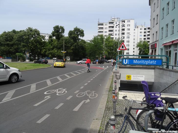 Umgestalteter Moritzplatz