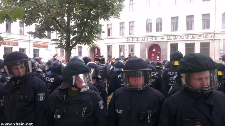 Festnahmen auf dem Oranienplatz am Nachmittag