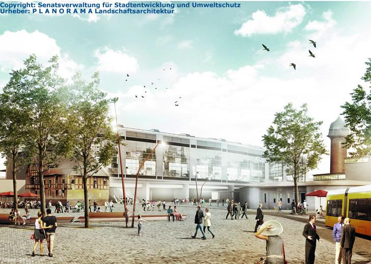 Vorplatz am Bahnhof Ostkreuz