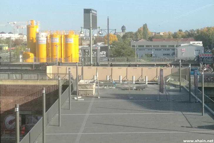 Anbindung der Plattform der East Side Mall an die Warschauer Brücke