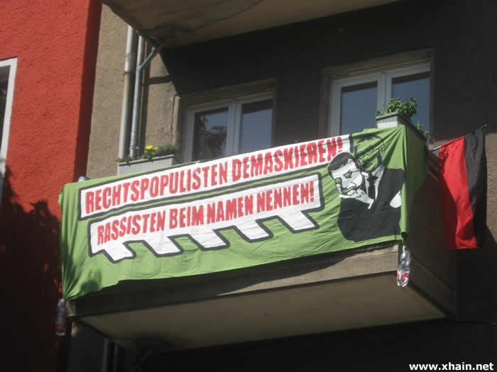 Anwohnerprotest gegen Pro Deutschland