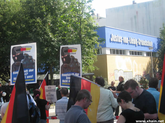 Pro Deutschland in der Liebigstraße
