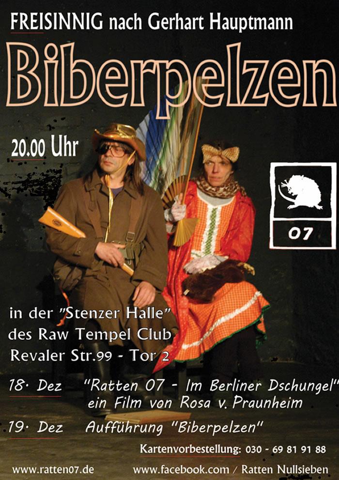 Obdachlosentheater Ratten07 - Bieberpelzen im RAW