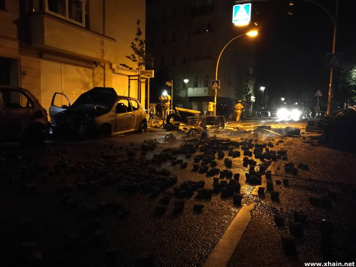 Pflastersteine auf der Rigaer Straße
