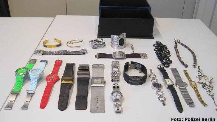 Uhren und Schmuck aus Wohnungseinbrüchen