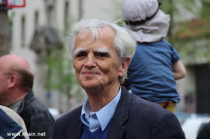 Einweihung der Silvio-Meier-Straße: Hans-Christian Ströbele