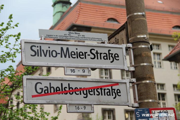 Einweihung der Silvio-Meier-Straße
