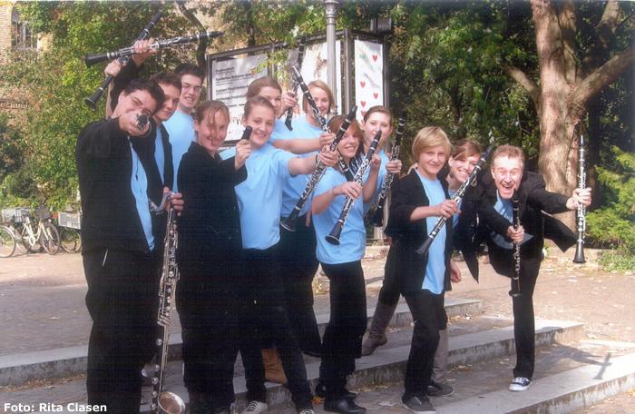 Kreuzberger Klarinettenpower vor der Abreise nach Israel 2010