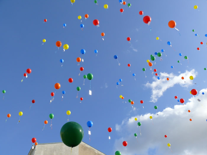Luftballons über Kreuzberg