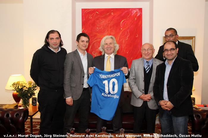 Delegation von Türkiyemspor zu Gast beim Türkischen Botschafter