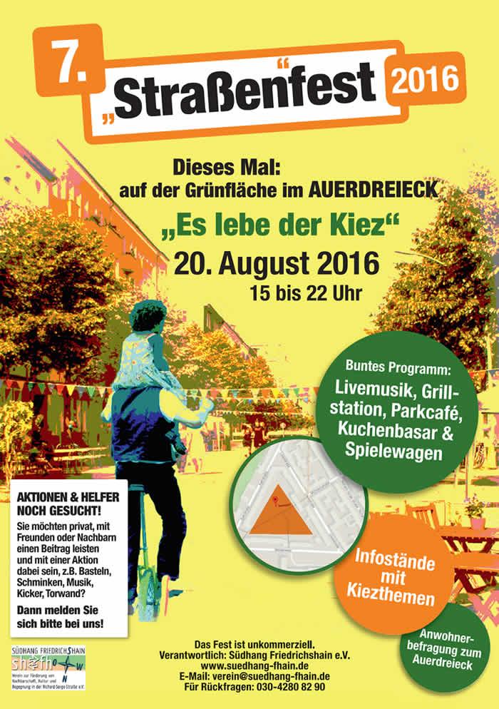 Richard-Sorge-Kiez: Straßenfest im Auerdreieck
