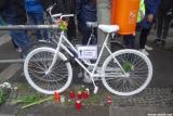 Ghost Bike als Mahnmal für die getötete Radfahrerin