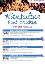Kiezkultur baut Brücken 2015 - Programm