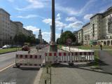 Sanierungsarbeiten am Radweg in der Frankfurter Allee