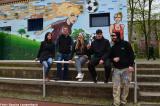 Kreuzberger Graffiti-Künstler verzieren die Sportanlage an der Wiener Straße