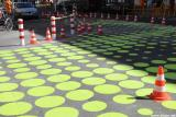 Grüne Punkte auf der Bergmannstraße
