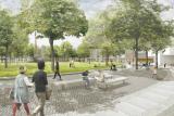 Ansicht Mehringplatz (Stand 2016) Arge Lavaland / Treibhaus Landschaftsarchitektur