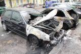 Abgebrannte Autos in der Scharnweberstraße