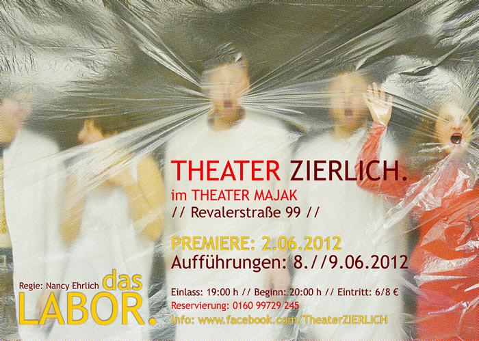 """Premiere im Theater Majak: Theater Zierlich präsentiert """"Das Labor"""""""