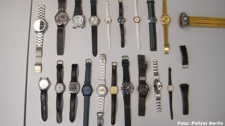 Uhren aus Wohnungseinbrüchen