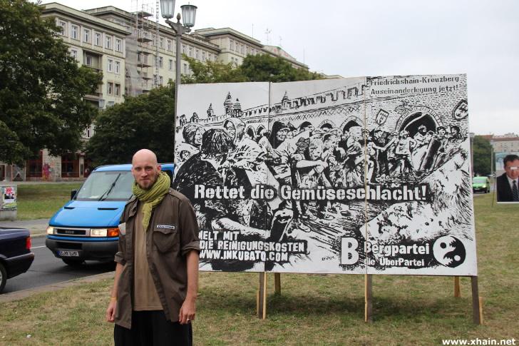 """Benjamin Richter, Kandidat der Bergpartei, die """"ÜberPartei"""""""